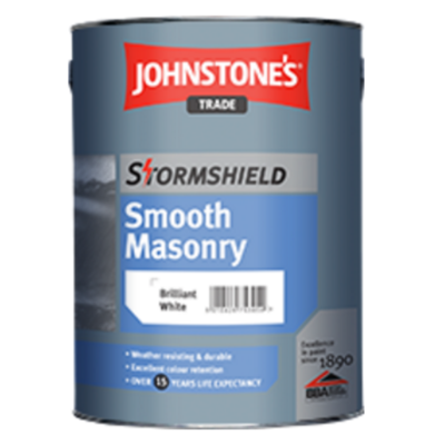 Stormshield Smooth External Masonry Paint - White 5ltr (other colours available)