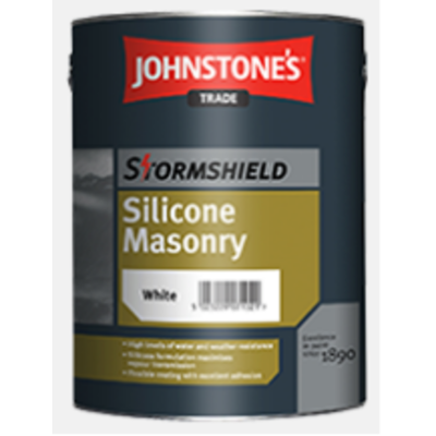 Stormshield Silicone Masonry Paint - White 5ltr (other colours available)